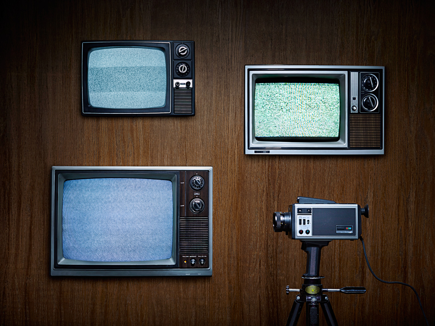 Vintage TVs conceptual - still life photographer los angeles