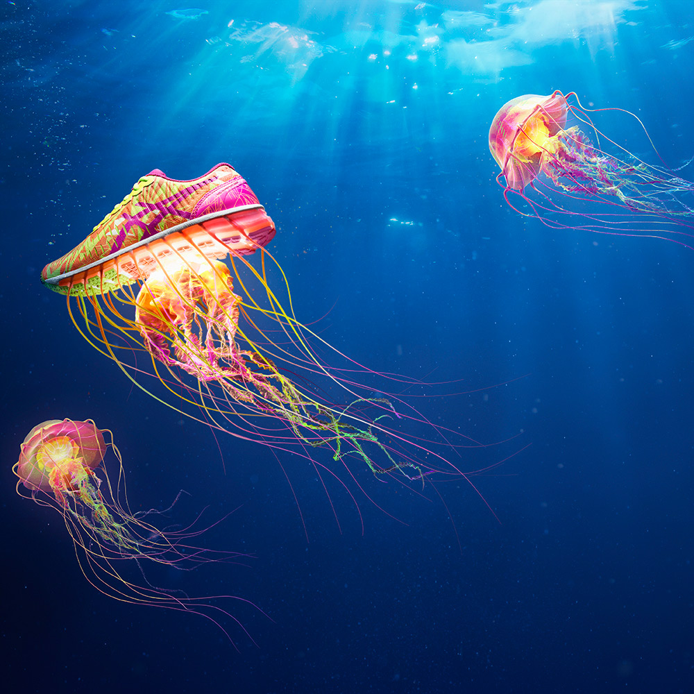 asics jellyfish - los angeles product photographer